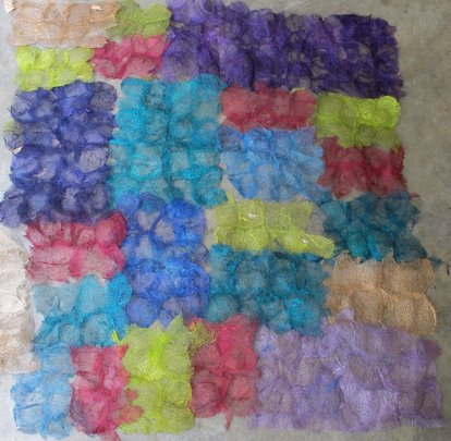 Color samples of SEPALI wild silk