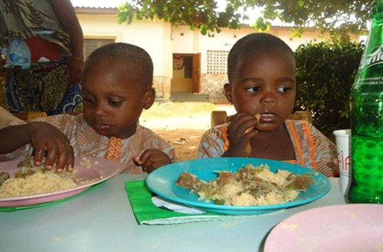 Children having lunch