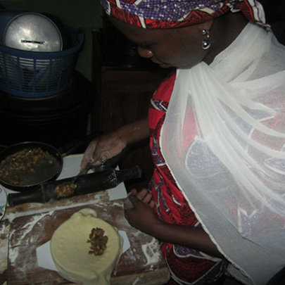 Rabi Working to Prepare a Dish
