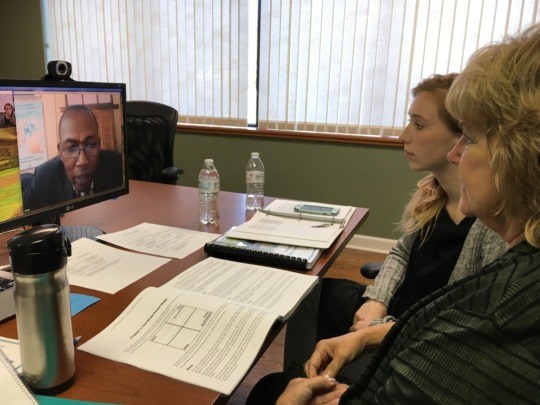 Follow up by video conference with DRC
