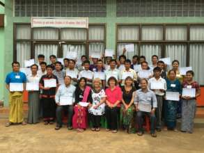 Our first class in Myanmar!