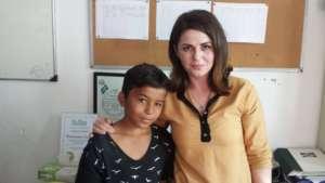 Samet and teacher Lirije
