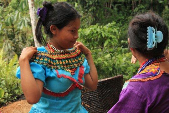 Monica, Indigenous council member.