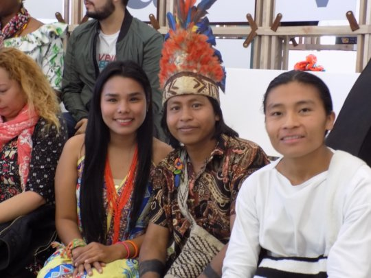 Indigenous leaders at the Truth Commission.
