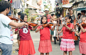 Teach Classical Music to poor kids of Talim Island