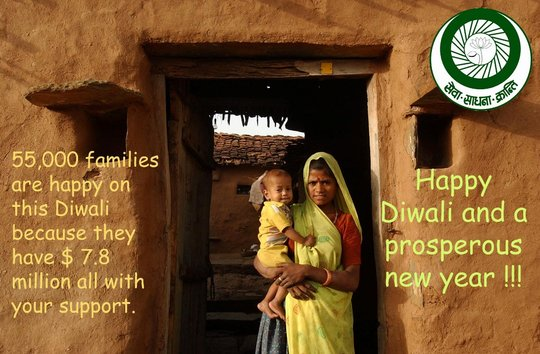 Smile, light and joy - you brought to us on Diwali