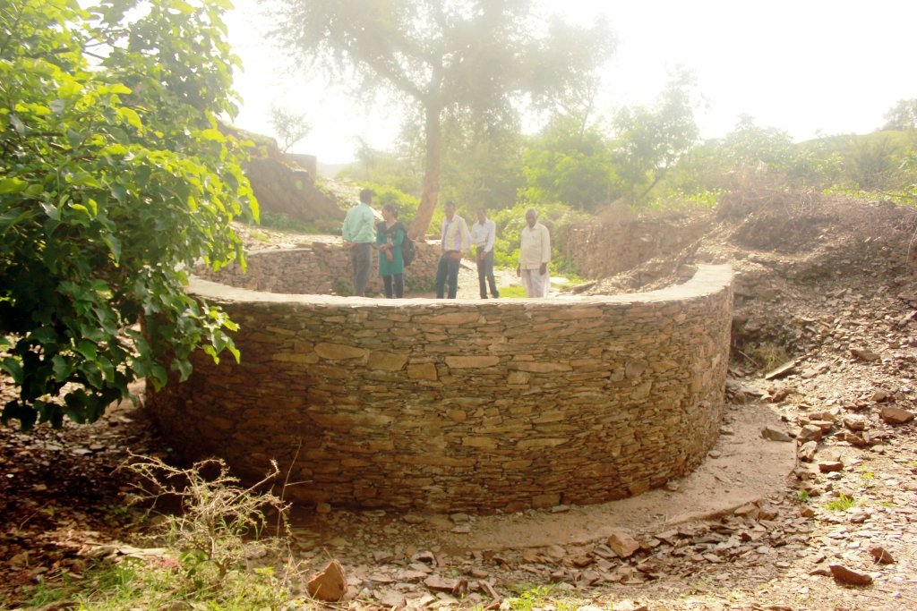 Common community well during renovation