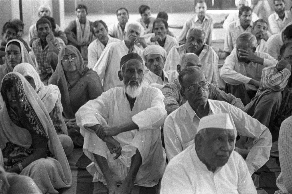Villagers participating in trainings