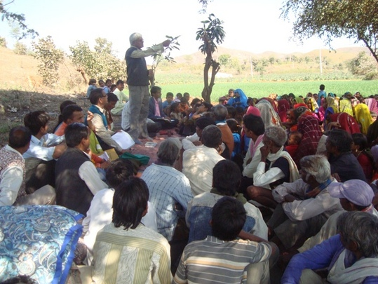 a village meeting