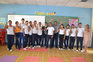 Students in Joaquin Rodezno, Brain Education class