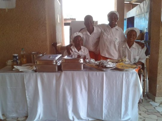 The catering service ladies during 'Recreatrales'