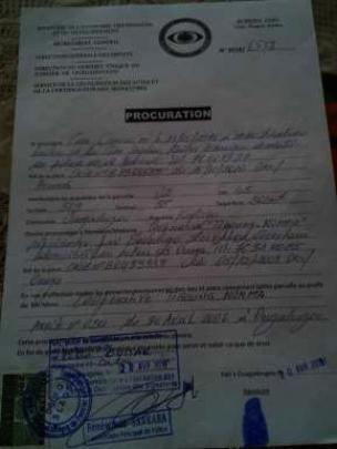 Procurement letter