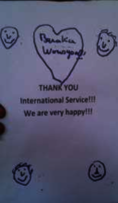 Thank you International Service!