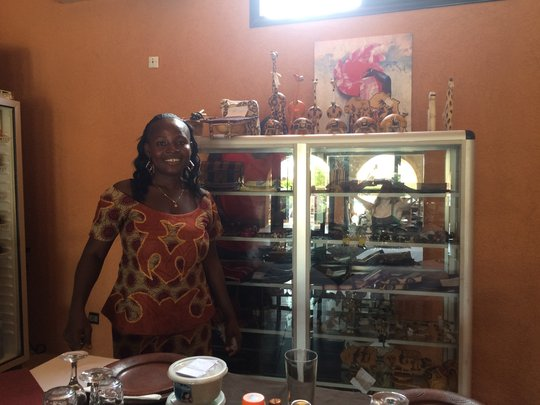 TN member Leonie sells products at Hotel Calao