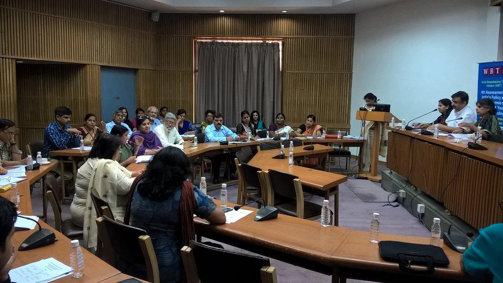 Members discussing scoring on various indicators