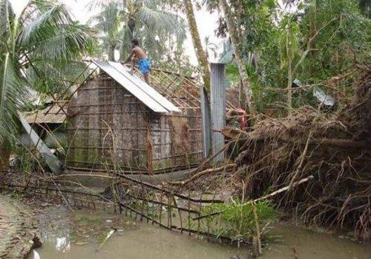 Cyclone Damage - rebuilding begins
