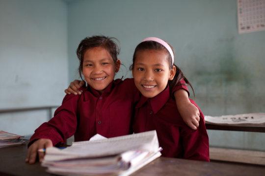 Sanju and her friend Maya back in 2012.