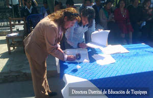 District Director signing the project agreement