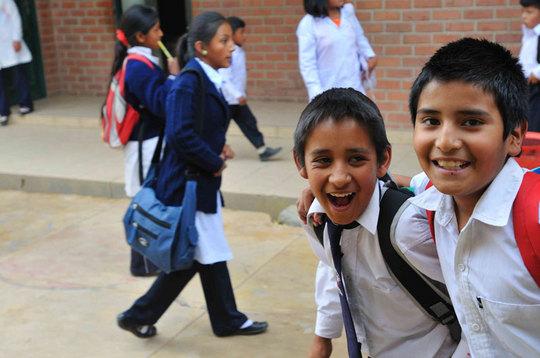School kids in a school in Cochabamba (Bolivia)