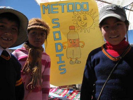 SODIS promotion at school