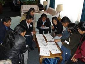Teachers during a training workshop