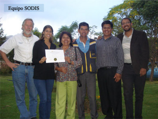 The SODIS team in Bolivia received a recognition