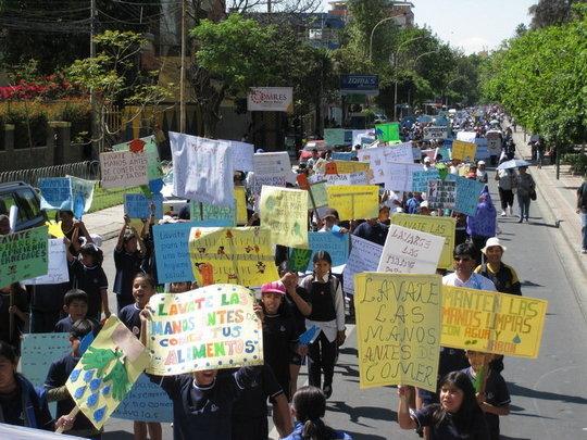Parade on International Hand Washing Day