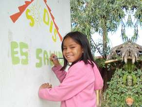 Girl at a school in Oruro
