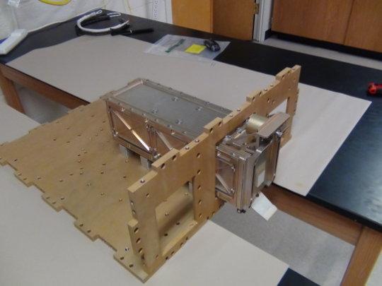 LightSail B P-POD simulator in Prox-1 structure.