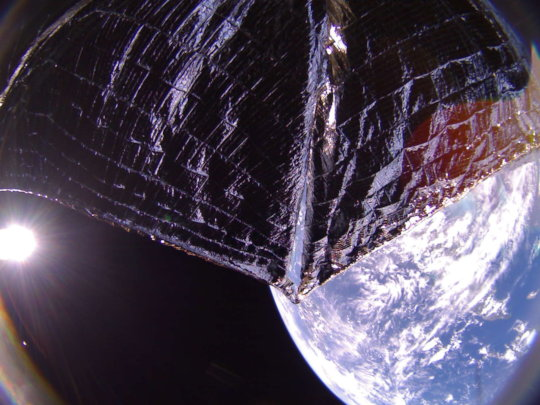LightSail 2 over the Caribbean