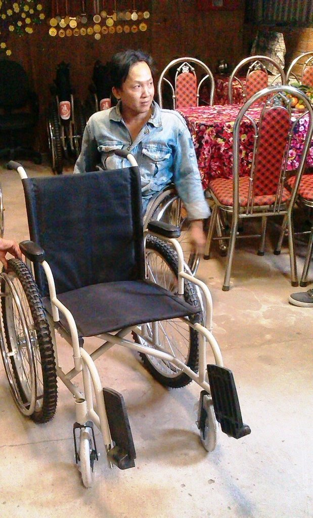 The wheelchair that the factory produced