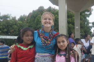 Anna with two children from the school at BenaJema