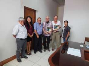 Meeting at indigenous university in Yarina