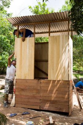 Building a new latrine