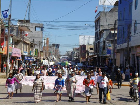 March in Pucallpa