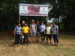 Visit to the community of Santa Teresita