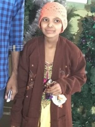 Saniya undergoing Chemo treatment