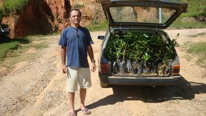 Antonio's saplings going to Wildlife Sanctuary.