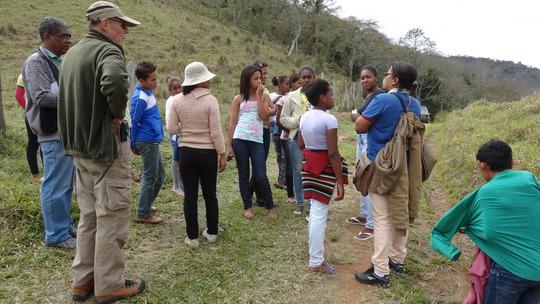 Teachers instructing the children.