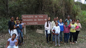 The students Group led by teacher Iracema Brittes