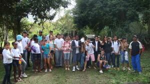 Students preparing to leave Wildlife Sanctuary.