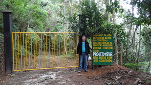 The new Wildlife Sanctuary gate.