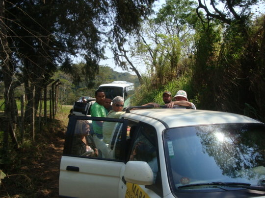 MSc. students arriving to visit Wildlife Sanctuary