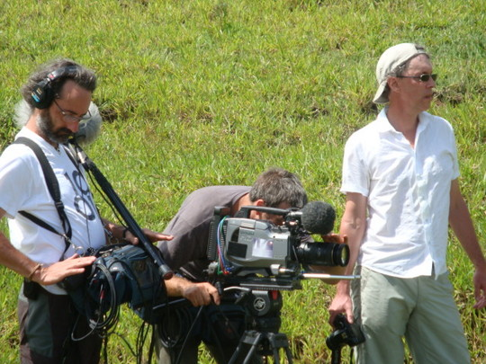 The filming crew