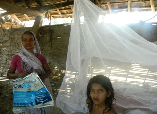 The mosquito net beneficiary