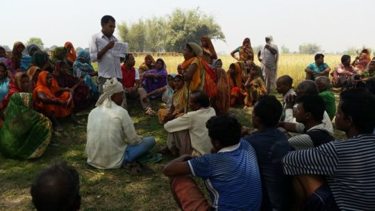 Meeting with beneficiaries