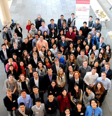 A portion of the 100 student delegates!