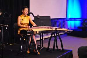 Accomplished guzheng player