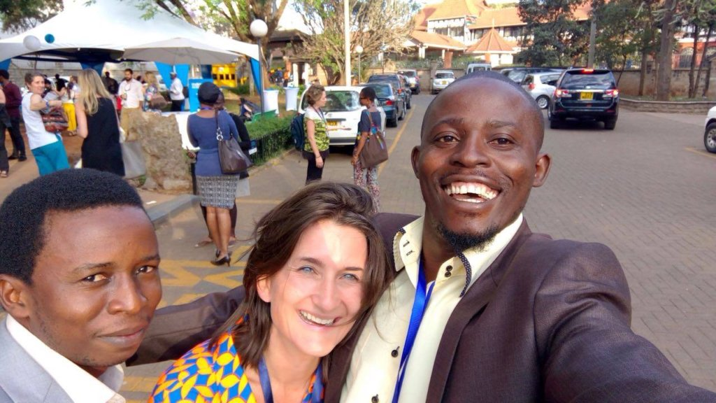 Lansana and Arthur happy to be at Good Pitch Kenya