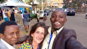 Lansana and Arthur happy to be at Good Pitch Kenya